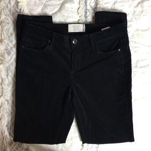 Rachel Roy Black Velvet Corduroy Skinny Jeans 28
